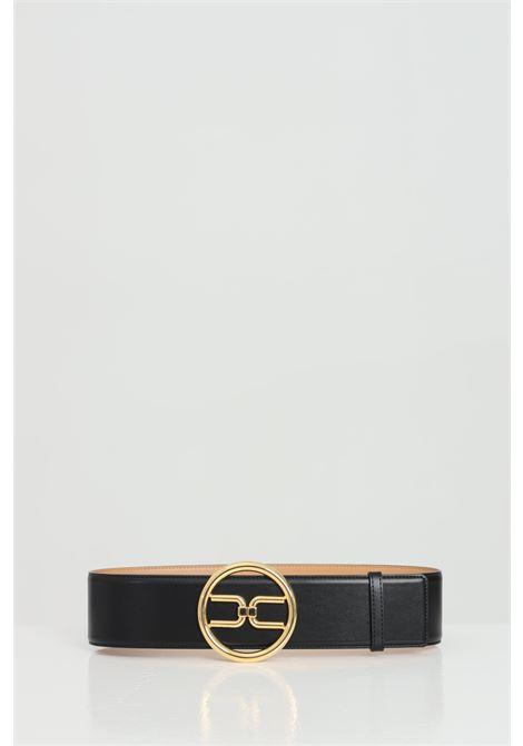 Cintura a vita alta con logo gold ELISABETTA FRANCHI | Cinture | CT11S11E2110