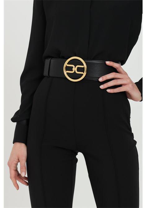 Cintura donna nera elisabetta franchi a vita alta ELISABETTA FRANCHI | Cinture | CT11S11E2110