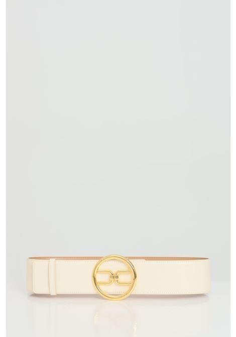 High waist belt with gold logo ELISABETTA FRANCHI | Belt | CT11S11E2193