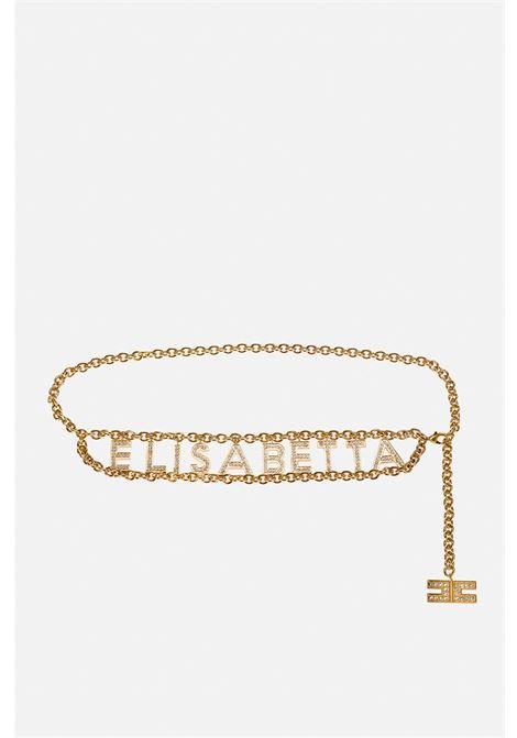 Cintura donna oro elisabetta franchi in catena charms ELISABETTA FRANCHI | Cinture | CT34S11E2511