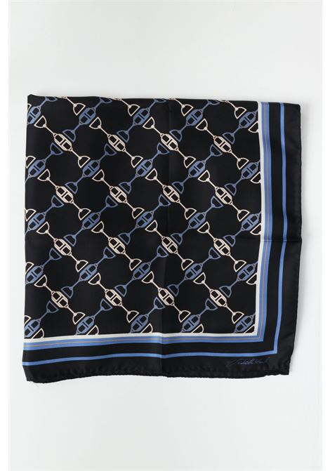 Elisabetta franchi women's blue scarf with print ELISABETTA FRANCHI   Scarf   FO03F11E2110