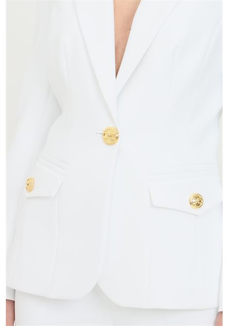 Giacca donna bianca elisabetta franchi in cady ELISABETTA FRANCHI | Giacche | GI96611E2360