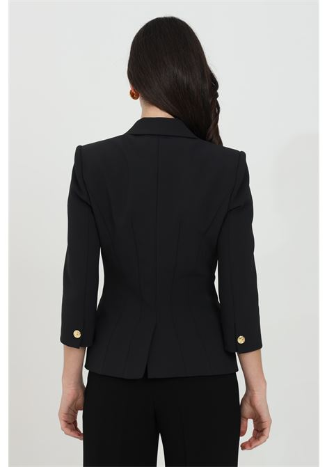 Double-breasted stretch crepe jacket with 3/4 sleeves ELISABETTA FRANCHI | Blazer | GI97011E2110
