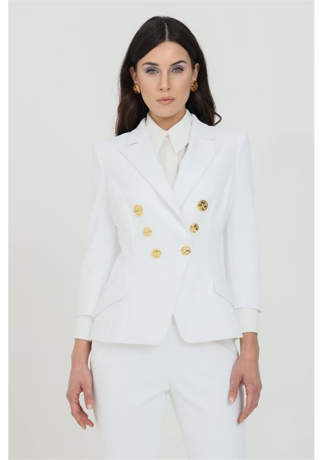 Double-breasted stretch crepe jacket with 3/4 sleeves ELISABETTA FRANCHI | Blazer | GI97011E2360