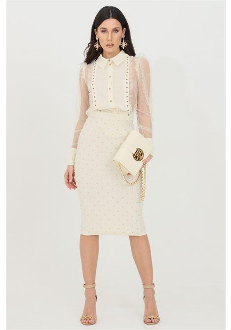 Knitted longuette with studs ELISABETTA FRANCHI | Skirt | GK31B11E2193