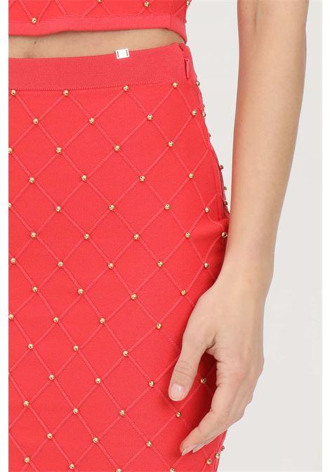 Knitted longuette with studs ELISABETTA FRANCHI | Skirt | GK31B11E2620