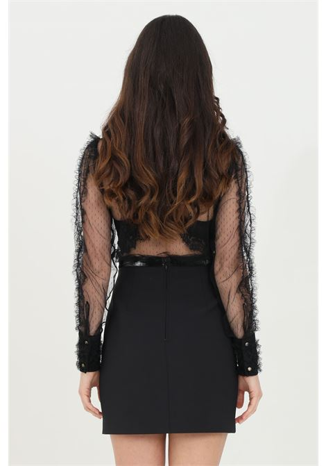 Mini skirt with zip on the back and eco-leather inserts ELISABETTA FRANCHI | Skirt | GO44411E2110