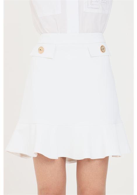 Ivory short skirt elisabetta franchi  ELISABETTA FRANCHI | Skirt | GO46211E2360