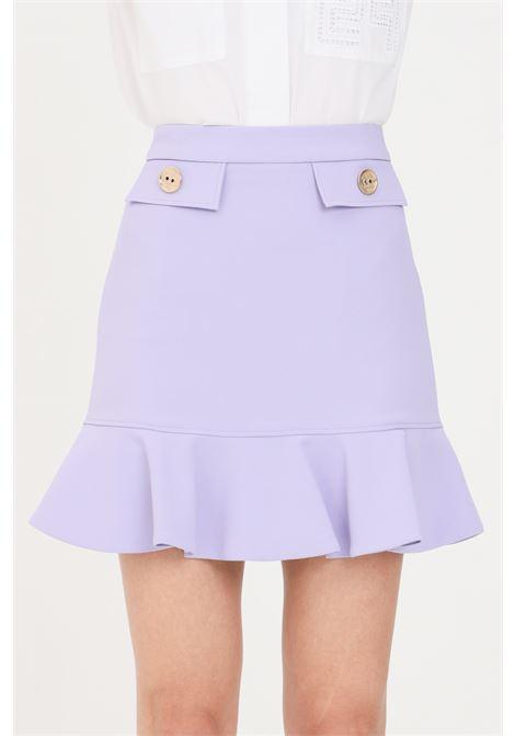 Lilac short skirt elisabetta franchi  ELISABETTA FRANCHI | Skirt | GO46211E2Q38