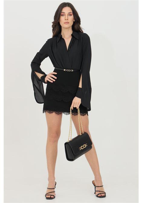 Mini skirt with belt and lace ELISABETTA FRANCHI | Skirt | GO46511E2110