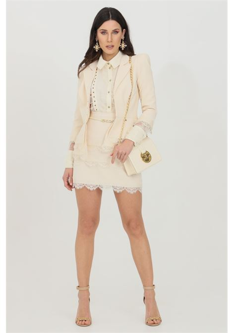 Mini skirt with belt and lace ELISABETTA FRANCHI | Skirt | GO46511E2193