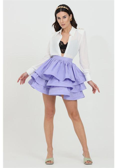 Ottoman skirt with high waist with a flower shape ELISABETTA FRANCHI | Skirt | GO47211E2Q38