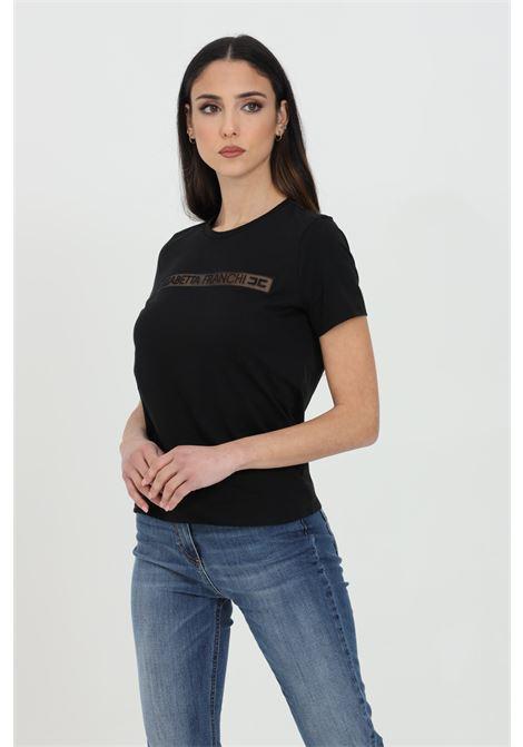 T-shirt manica corta tinta unita con logo frontale ELISABETTA FRANCHI   T-shirt   MA18411E2110
