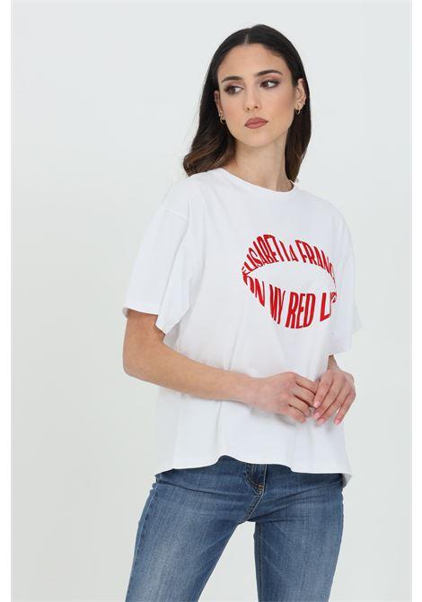 T-shirt con stampa labbra rosse ELISABETTA FRANCHI   T-shirt   MA26N11E2270