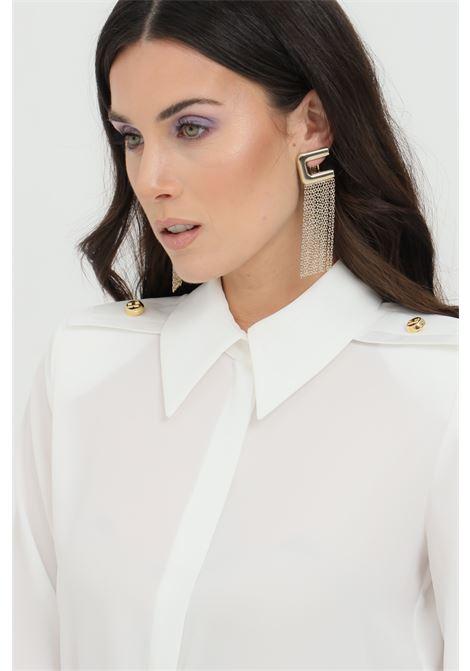 Elisabetta Franchi gold earrings with logo and chain cascade ELISABETTA FRANCHI   Bijoux   OR02A11E2604