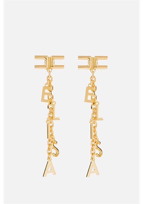 Orecchino pendente, 10 cm, con farfallina e ago in oro giallo ELISABETTA FRANCHI | Bijoux | OR04A11E2U95