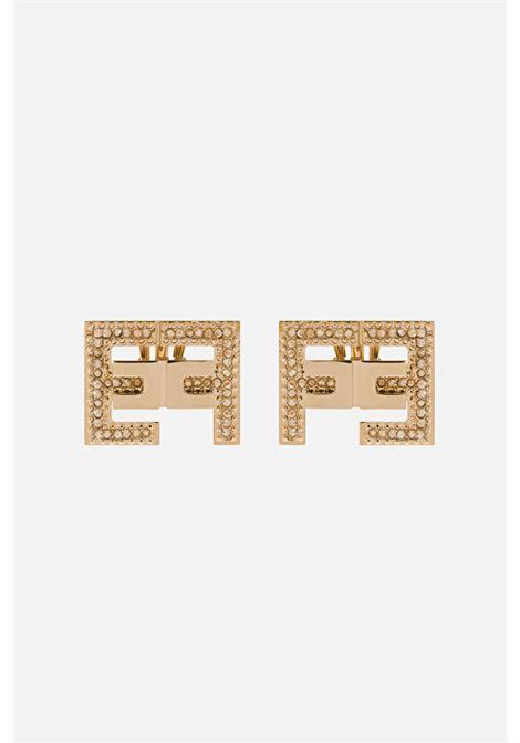 Orecchini con logo in oro e chiusura con clip ELISABETTA FRANCHI | Bijoux | OR05B11E2604