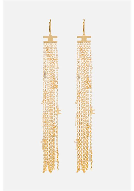 Women's gold earrings elisabetta franchi light gold pendant with charms ELISABETTA FRANCHI | Bijoux | OR08A11E2U95