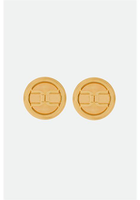 Orecchini tondi con logo ELISABETTA FRANCHI | Bijoux | OR2MC11EU95