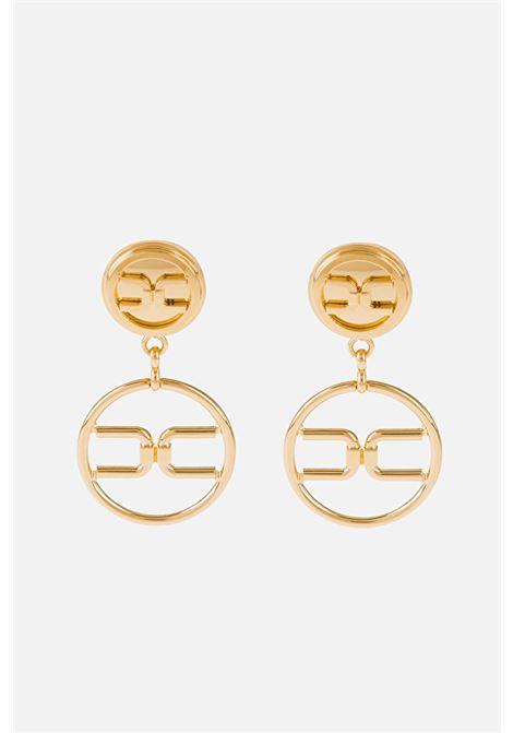 Orecchini in oro pendenti logati ELISABETTA FRANCHI   Bijoux   OR3MC11EU95