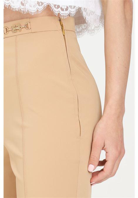 Black women trousers elisabetta franchi classic cut with side zip ELISABETTA FRANCHI | Pants | PA37611E2470