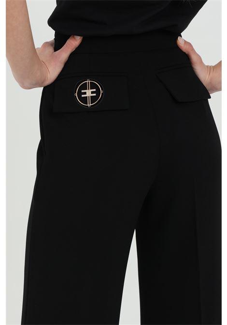 Pantalone in crêpe a zampa ELISABETTA FRANCHI   Pantaloni   PA38111E2110