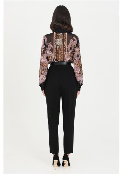 Pantalone donna Elisabetti Franchi elegante skinny con cintura ELISABETTA FRANCHI | Pantaloni | PA38211E2110