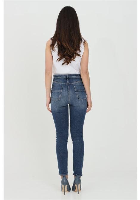 Jeans donna elisabetta franchi stretch con bottoni light gold ELISABETTA FRANCHI | Jeans | PJ02I11E2104