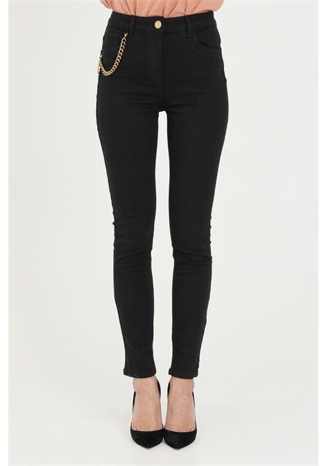 Pantaloni donna nero elisabetta franchi casual super skinny ELISABETTA FRANCHI | Pantaloni | PJ03S11E2110