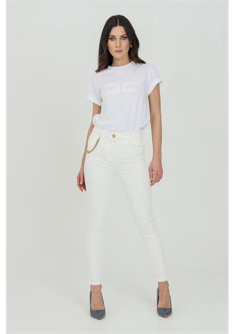 Ivory casual trousers, super skinny model. Elisabetta franchi ELISABETTA FRANCHI | Pants | PJ03S11E2360