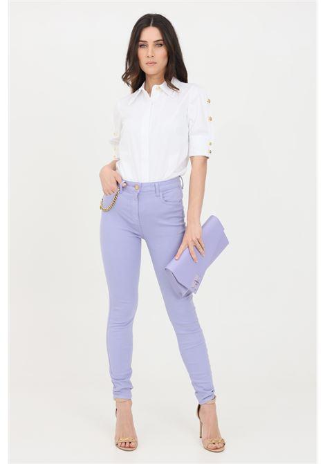 Pantaloni donna lavanda elisabetta franchi casual super skinny ELISABETTA FRANCHI | Pantaloni | PJ03S11E2Q38
