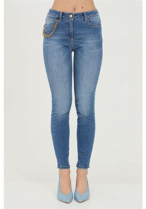 Jeans donna elisabetta franchi skinny con charm in oro vecchio ELISABETTA FRANCHI | Jeans | PJ04S11E2104