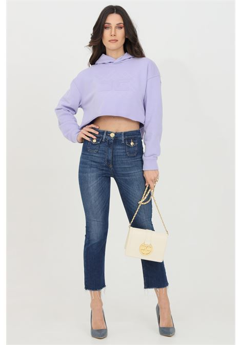 Jeans donna elisabetta franchi mini flare a vita alta ELISABETTA FRANCHI | Jeans | PJ95I11E2139