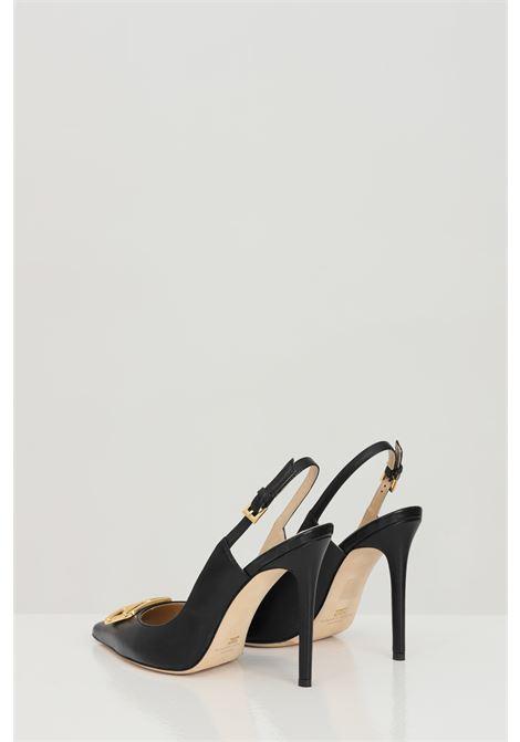 Decolletes donna nere elisabetta franchi stile chanel con tacco alto ELISABETTA FRANCHI | Party Shoes | SA91B11E2110