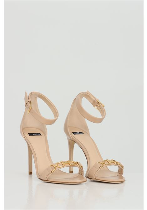 Sandalo in vera pelle con tacco 10cm ELISABETTA FRANCHI | Party Shoes | SA97L11E2470