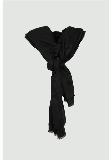 Sciarpa donna nera elisabetta franchi modello foulard ELISABETTA FRANCHI | Sciarpe | SC01C91E2110