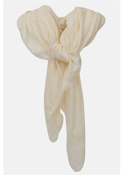 Scarf with logo and tone on tone print ELISABETTA FRANCHI | Scarf | SC01F11E2193