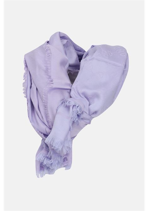 Jacquard Elisabetta franchi lavender scarf with clamp print ELISABETTA FRANCHI   Scarf   SC02F11E2Q38