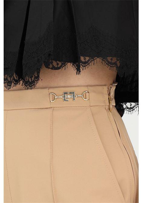 Shorts donna nero Elisabetta Franchi elegante in ottoman con morsetto ELISABETTA FRANCHI | Shorts | SH00111E2470