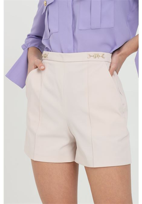 Black shorts in ottoman with gold details, brand: Elisabetta Franchi ELISABETTA FRANCHI | Shorts | SH00111E2686