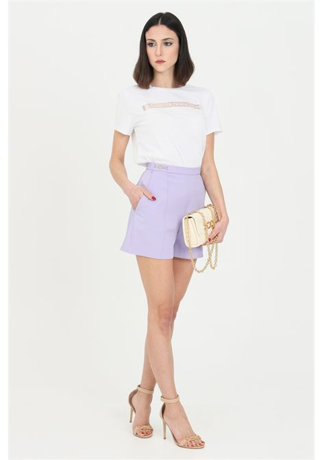 Black shorts in ottoman with gold details, brand: Elisabetta Franchi ELISABETTA FRANCHI | Shorts | SH00111E2Q38