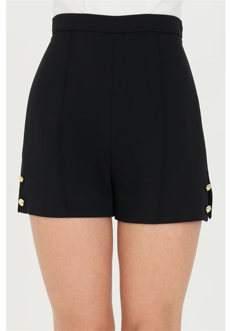 Woman shorts with high waist and side slits, brand: Elisabetta Franchi ELISABETTA FRANCHI | Shorts | SH00211E2110
