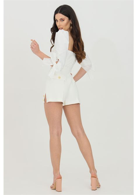 Woman shorts with high waist and side slits, brand: Elisabetta Franchi ELISABETTA FRANCHI | Shorts | SH00211E2360