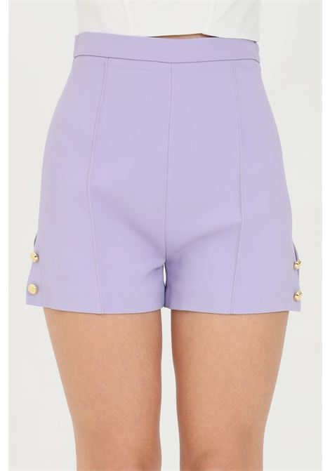 Woman shorts with high waist and side slits, brand: Elisabetta Franchi ELISABETTA FRANCHI | Shorts | SH00211E2Q38
