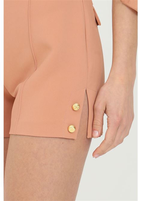Woman shorts with high waist and side slits, brand: Elisabetta Franchi ELISABETTA FRANCHI | Shorts | SH00211E2W71