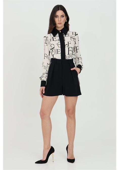 Shorts donna elisabetta franchi bicolor a vita alta ELISABETTA FRANCHI | Shorts | SH00413E2685