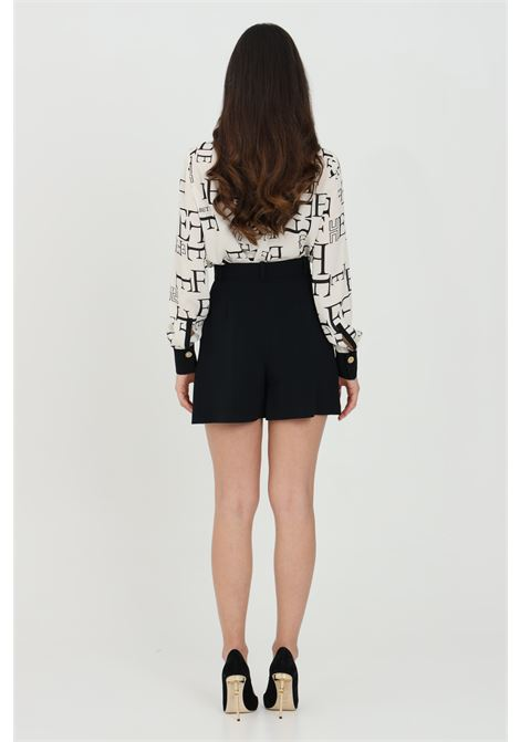 Bicolor shorts with high waist ELISABETTA FRANCHI | Shorts | SH00413E2685