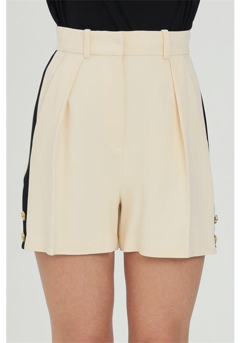 Shorts donna elisabetta franchi bicolor a vita alta ELISABETTA FRANCHI | Shorts | SH00413E2E84