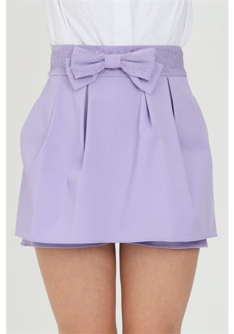 Shorts with bow, skirt effect ELISABETTA FRANCHI | Shorts | SH00613E2Q38