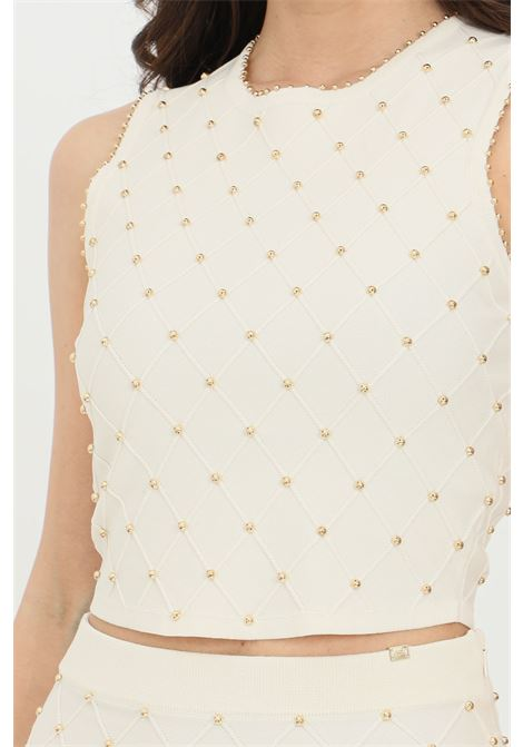 Top woman butter elisabetta franchi knit with studs ELISABETTA FRANCHI | Top | TK26B11E2193